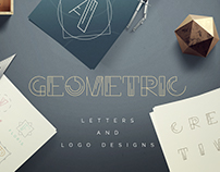 Geometric Letters and Logo Designs