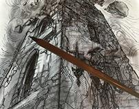 INKtober #12 (Shattered) (2k18)