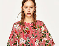 ZARA - floral top & dress