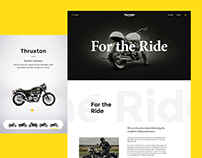 Triumph Motorcycles — Website Concept