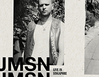 Gig Poster for JMSN Live in Singapore