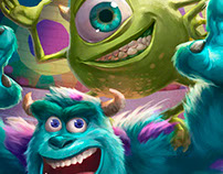 Monsters inc - Mike and Sullivan