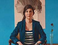 Portrait painting of Ms.Celigo