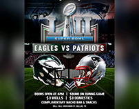 Super Bowl Flyer for Will Call in Deep Ellum