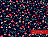 SUMMER NIGHT Floral patterns collection