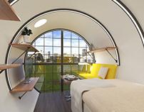 Industrial Concrete Tube Resort Design.