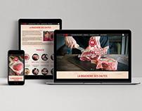 Site Web - Boucherie des Chutes
