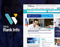 Graphic redesign of WebRankInfo, SEO site