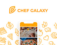 Chef Galaxy - Mobile App Design (UI/UX)
