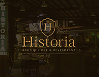 Historia Boutique Bar & Restaurant Branding & Identity