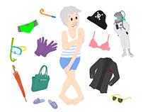 Illustration d'un jeu memory sur les vêtements