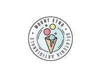 Mount Etna - Gelateria Logo concept