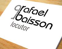 Logotipo. Empresa: Rafael Baisson, locutor.