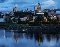 Quebec City, Quebec - Evening Falls