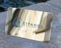 Chrome Finish Metal Business Card