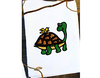 TURTLE AND A BIRD MACHINE EMBROIDERY DESIGN