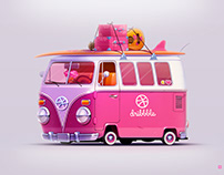 Hello Dribbble t1 vw