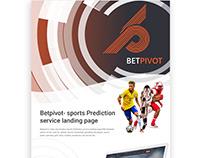 Betpivot- sports Prediction service landing page