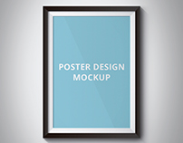 Poster Design Mockup 2 - Free psd download