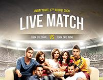 Live Match Football Flyer Template