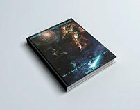 Capa de livro, ficção científica.