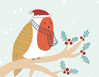 Illustrated Christmas greeting cards