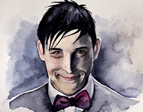 Oswald Cobblepot watercolor