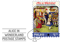 Alice in Wonderland Postage Stamps