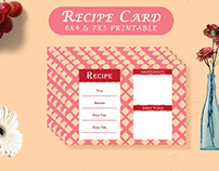 Free Recipe Card Printable Template V14