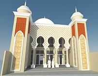 Desain arsitektur masjid al islah surabaya