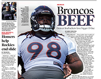 Sports cover newspaper layout