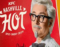 KFC Nashville Hot Stationary & Bag New Product Redesign