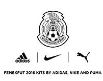 Mexican Football Team 2016 kits by Adidas, Nike & Puma
