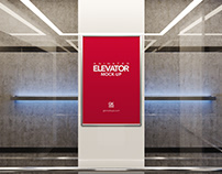 Animated Elevator / Poster Mock-up