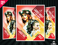 Ladies Night Party Flyer Free PSD Template Download