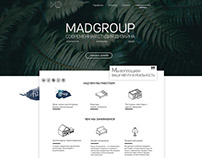 MadGroup | Landing page | Architecture and Design