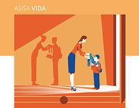 ASISA Vida - Brochure illustrations
