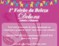 Convite Débora Cabelos e Glamour