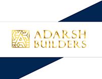 ADARSH BUILDER BRANDING : IDENTITY DESIGN