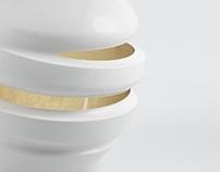 Product design / Porcelain lamp