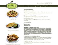 The Grove Restaurant & Bar Website