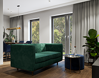 Apartment with green accent