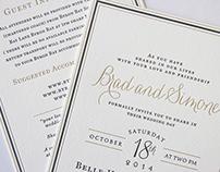 Wedding Invitations - Brad and Simone
