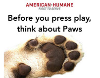 Concept ad campaign for Humane Hollywood