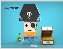 Low Poly Pirat
