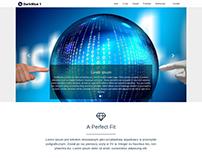 "Strona internetowa ""Darkblue 1"": Wordpress + Bootstrap"