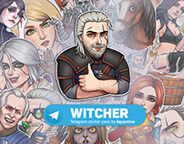 Witcher stickers