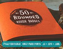 50 Rounded Rough Badges