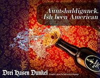 Drei Hasen Dunkel Beer Concept Ads