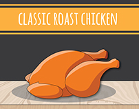 """Infographics : How to cook """"Classic roast chicken""""."""